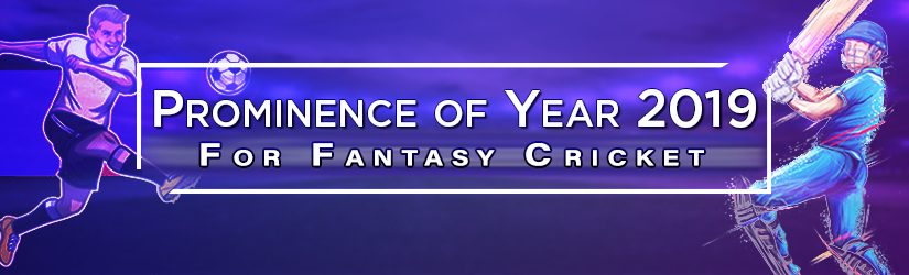 Prominence Of Year 2019 For Fantasy Cricket