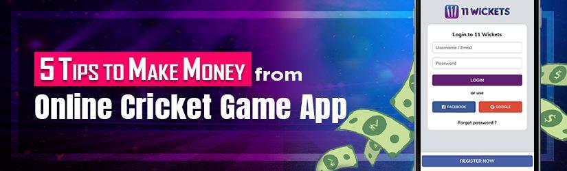 5 Tips to Make Money from Fantasy Cricket App