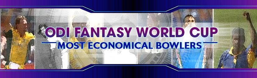 ODI Fantasy World Cup –Most Economical Bowlers