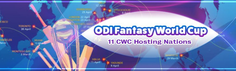 ODI Fantasy World Cup – 11 CWC Hosting Nations