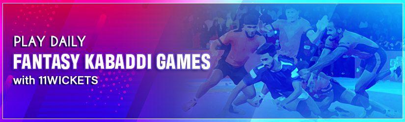 Play Daily Fantasy Kabaddi Games with 11Wickets