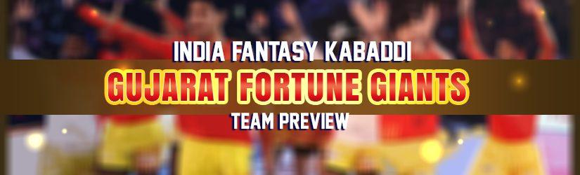 India Fantasy Kabaddi – Gujarat Fortune Giants Preview