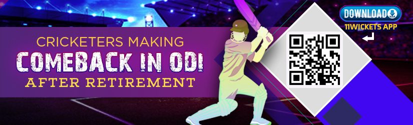 Fantasy Cricket – Cricketers Making Comeback in ODI after Retirement