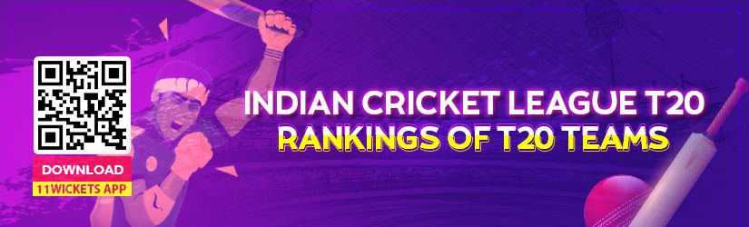 Indian Cricket League T20 – Rankings of T20 Teams