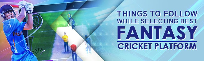 Things to follow while Selecting Best Fantasy Cricket Platform