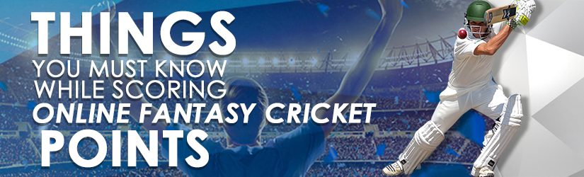Things You Must Know While Scoring Online Fantasy Cricket Points