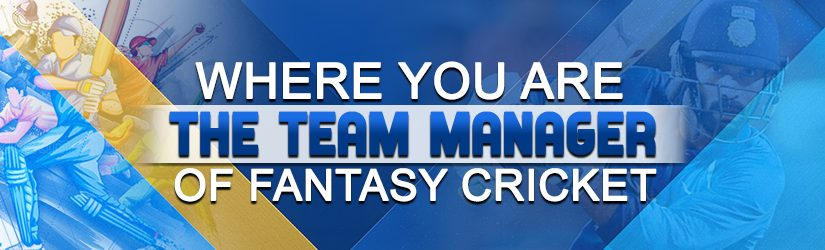 Where you are the team manager of Fantasy Cricket