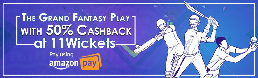 The Grand Fantasy Cricket Play with 50% Cashback