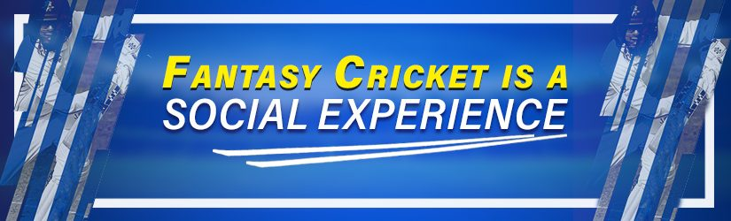 Fantasy Cricket is a Social Experience