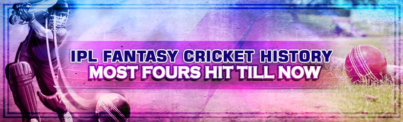 IPL Fantasy Cricket History – Most Fours Hit Till Now