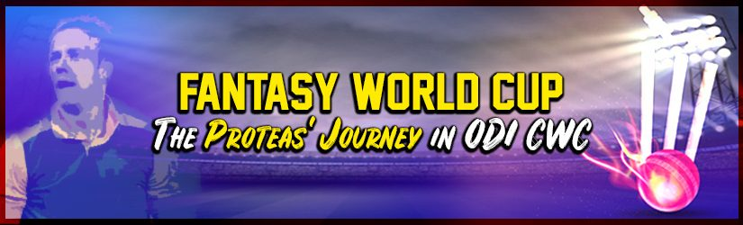 Fantasy World Cup – The Proteas' Journey in ODI CWC