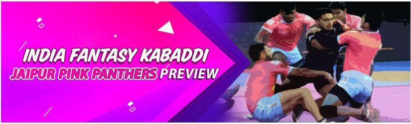 India Fantasy Kabaddi – Jaipur Pink Panthers Preview