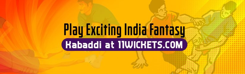 Play Exciting India Fantasy Kabaddi at 11Wickets.com