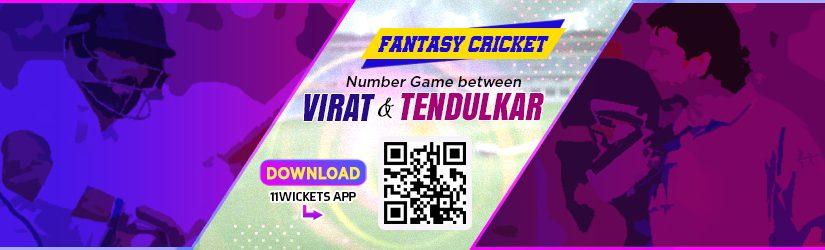 Fantasy Cricket – Number Game between Virat and Tendulkar