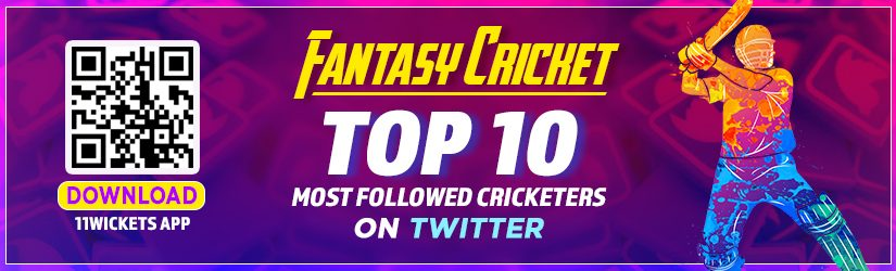 Fantasy Cricket – Top 10 Most Followed Cricketers on Twitter