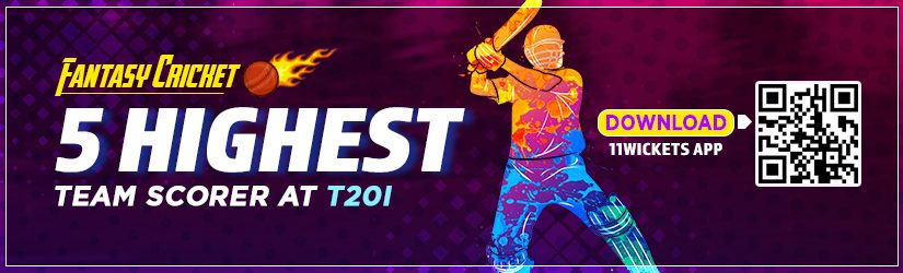 Fantasy Cricket – 5 Highest Team Scorer at T20I