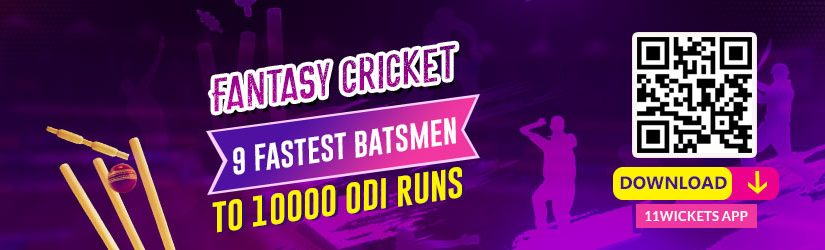 Fantasy Cricket – 9 fastest batsmen to 10000 ODI runs
